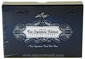 2012 Leaf Cut Signature Hobby Box