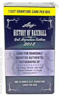 2012 Leaf History of Baseball Hobby Box (1 Cut Signature Per Box!)