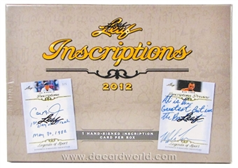 2012 Leaf Inscriptions Hobby Box