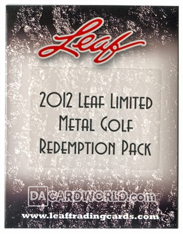 2012 Leaf Limited Metal Golf Redemption Pack