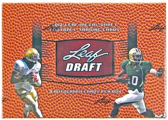 2012 Leaf Metal Draft Football Hobby Box