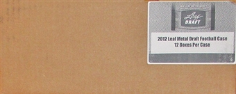 2012 Leaf Metal Draft Football Hobby 12-Box Case