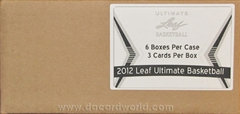 2012 Leaf Ultimate Draft Basketball Hobby 6-Box Case