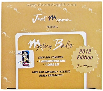 2012 Just Minors Mystery Balls Baseball Hobby Box