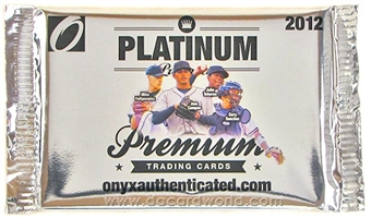 2012 Onyx Platinum Prospects Baseball Hobby Pack