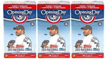 2012 Topps Opening Day Baseball 11-Pack Box (Lot of 3)