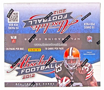 2012 Panini Absolute Football Retail 24-Pack Box
