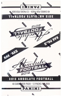 2012 Panini Absolute Football Rack Pack Box (12 Packs) - LUCK & WILSON ROOKIES