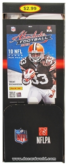 2012 Panini Absolute Football Retail 36-Pack Box - LUCK & WILSON ROOKIES!