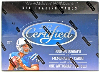 2012 Panini Certified Football Hobby Box - WILSON & LUCK ROOKIES!