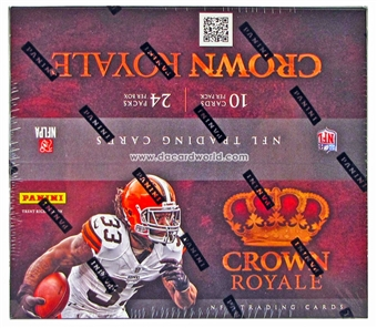 2012 Panini Crown Royale Football Retail 24-Pack Box