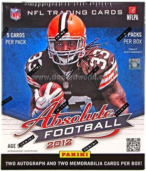 2012 Panini Absolute Memorabilia Football Hobby 18-Box Case- DACW Live at National 32 Spot Random Team Break