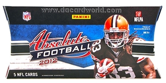 2012 Panini Absolute Memorabilia Football Hobby Pack