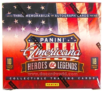 2012 Panini Americana Heroes & Legends Hobby Box
