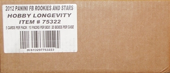 2012 Panini Rookies & Stars Longevity Football Hobby 20-Box Case