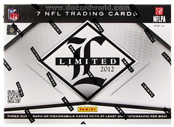2012 Panini Limited Football Hobby Box - WILSON & LUCK ROOKIES!