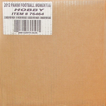 2012 Panini Momentum Football Hobby 10-Box Case