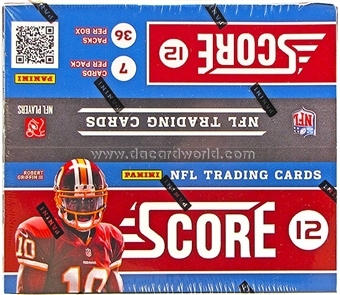 2012 Score Football 36-Pack Box