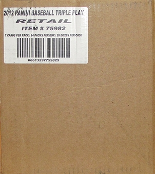 2012 Panini Triple Play Baseball 20-Box Case