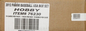 2012 Panini USA Baseball Hobby 10-Box (Set) Case