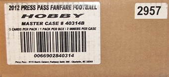 2012 Press Pass Fanfare Football Hobby 20-Box Case