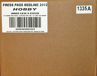 2012 Press Pass Redline Racing Hobby 10-Box Case