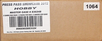 2012 Press Pass Showcase Racing Hobby 12-Box Case