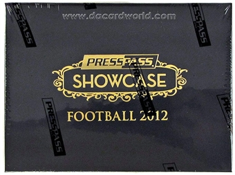 2012 Press Pass Showcase Football Hobby Box - WILSON & LUCK ROOKIES!