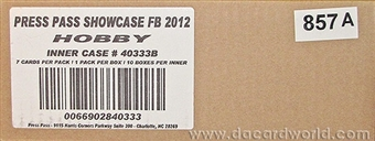 2012 Press Pass Showcase Football Hobby 10-Box Case