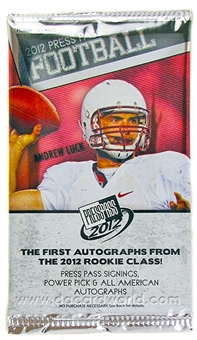 2012 Press Pass Rookie Football Hobby Pack