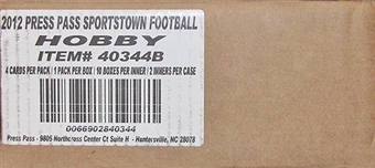 2012 Press Pass Sports Town Football Hobby 20-Box Case