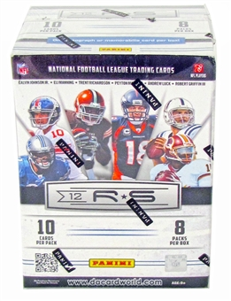 2012 Panini Rookies & Stars Football 8-Pack Box (10-Box Lot) - WILSON & LUCK RC's!