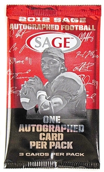 2012 Sage Autographed Football Hobby Pack