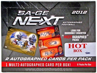 2012 Sage Next Football Hobby HOT Box (7/20)