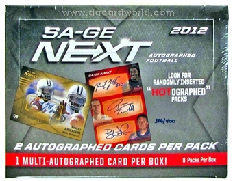 2012 Sage Next Football Hobby Box