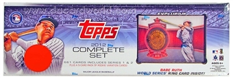 2012 Topps Factory Set Baseball Retail (Box) (Ruth Commemorative Ring Card)