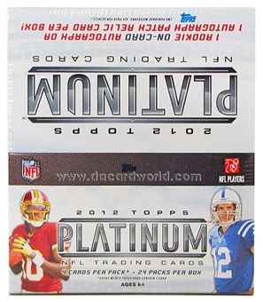 2012 Topps Platinum Football Retail 24-Pack Box