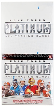 2012 Topps Platinum Football Rack Box (18 Packs)