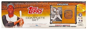 2012 Topps Factory Set Baseball with Clemente Commemorative Ring Card !