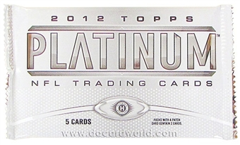 2012 Topps Platinum Football Hobby Pack