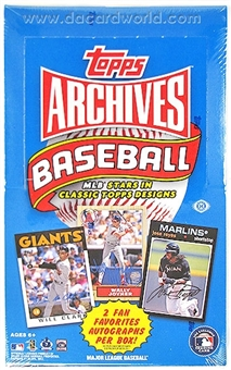 2012 Topps Archives Baseball Hobby Box