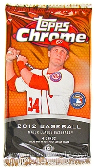 2012 Topps Chrome Baseball Hobby Pack