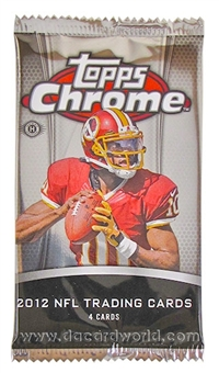2012 Topps Chrome Football Hobby Pack