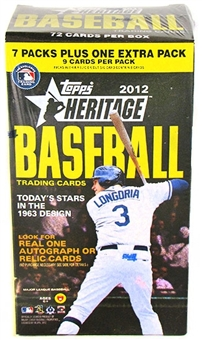 2012 Topps Heritage Baseball 8-Pack Blaster 3-Box Lot
