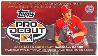 2012 Topps Pro Debut Baseball Hobby Box
