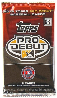 2012 Topps Pro Debut Baseball Hobby Pack