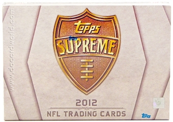2012 Topps Supreme Football Hobby Box