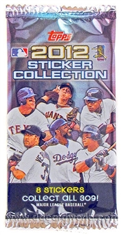 2012 Topps Baseball Hobby Sticker Pack