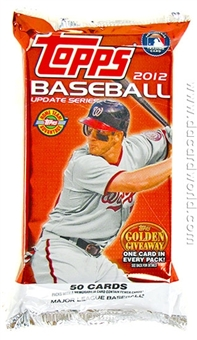 2012 Topps Update Series Baseball Jumbo Pack