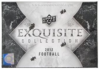 2012 Upper Deck Exquisite Football Hobby Case - DACW Live 28 Spot Random Team Break